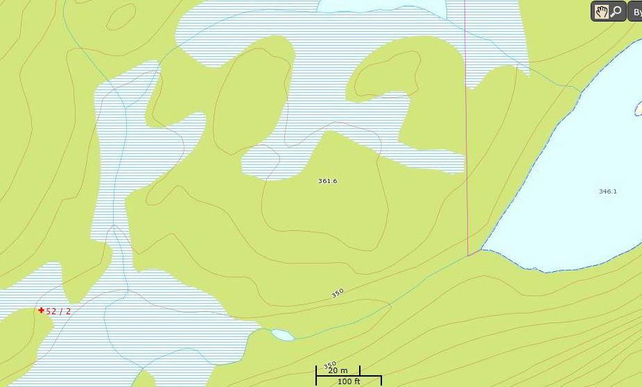 Nøstet i Båvannet står ikke på eiendommen gnr 52 bnr 2