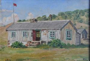 Nedigård malt av Knut Lund 18.juli 2014