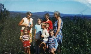 1969 Elise, Mary, Mary Florence Aalberg, Tore, Knut, Randi, Trond og Benedicte