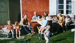 1969 Knut, Elise, Mathias, Benedicte, Mary Florence Aalberg, Nils, Mary, Trond, Eva og Tore