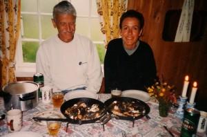 Elise og pappa på Baavasshaugen 1999